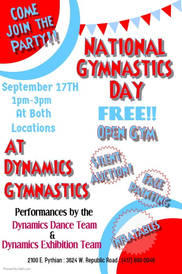 National Gymnastics Day Poster 2016
