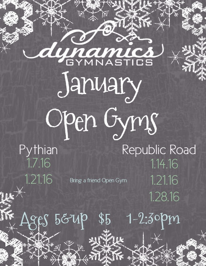 Jan Open gyms 2017