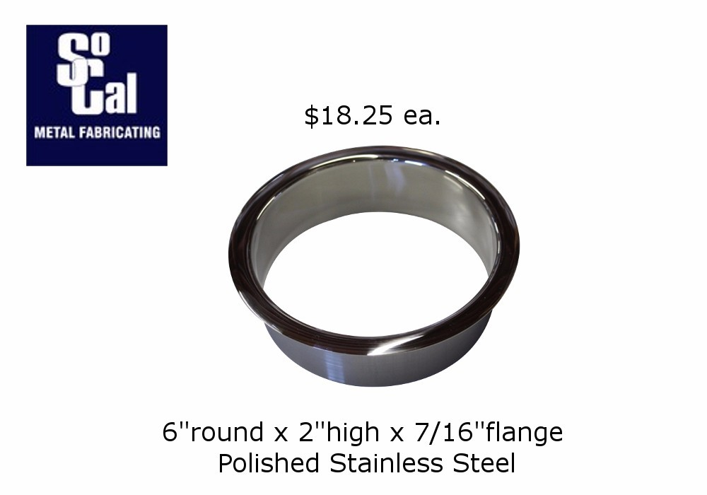 6 Quot X 2 Quot Trash Ring Polished Stainless Steel Socal