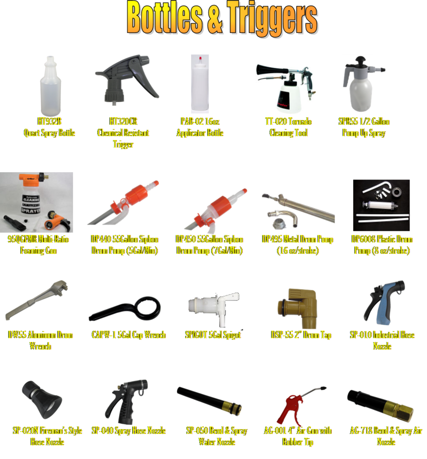 bottles and triggers