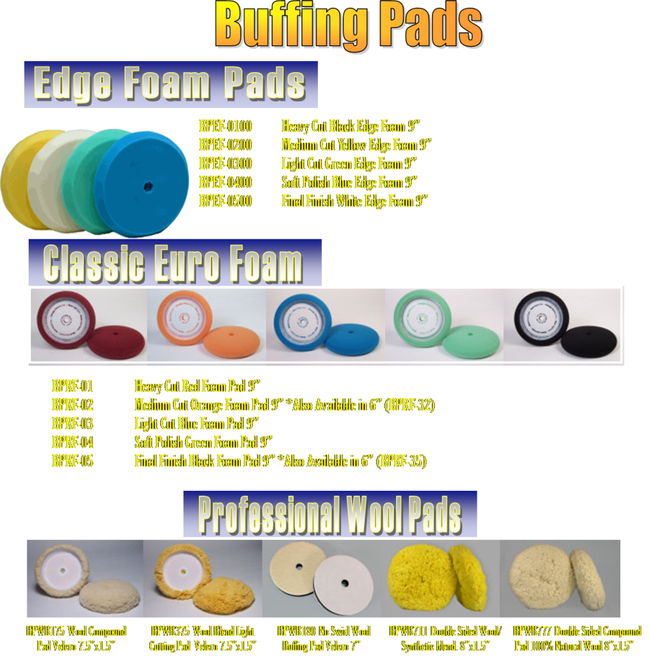 crs chemical corp buffing pads