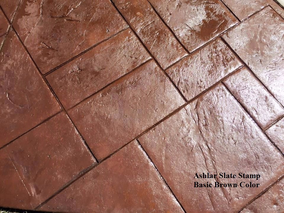 Large Rear Patio In Stamped Concrete Stamps Used Ashlar Slate Stamp And A Brick Border Colors Irish Coffee Integral Dark Brown Release On
