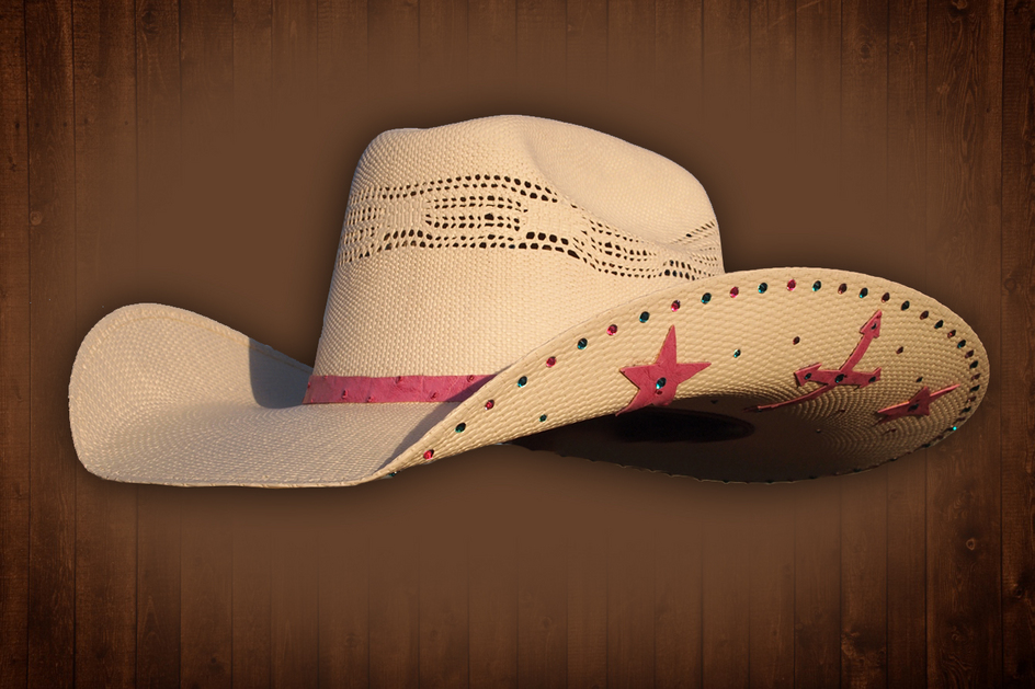Black cowboy hat front view