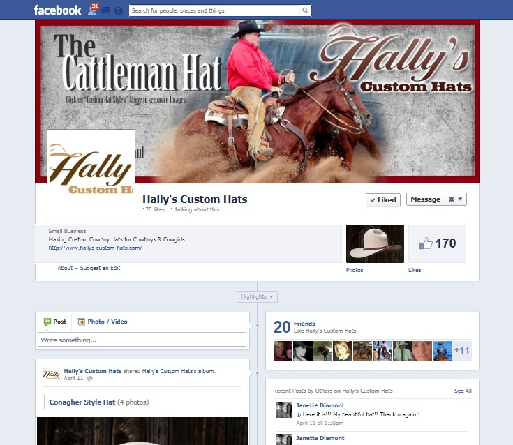 Hally's Custom Hats Arizona Facebook