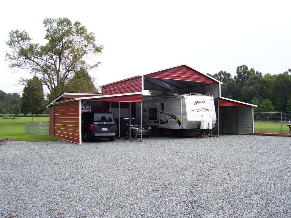Carports in south carolina metal carports for sale south for Garage pole cover