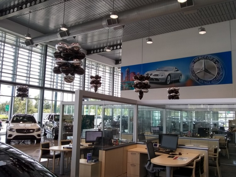 Auto Dealership showroom advertizing
