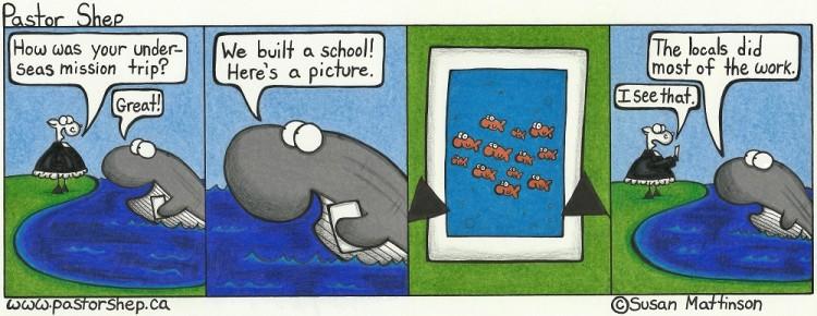 under sea mission school locals work pastor shep christian cartoon