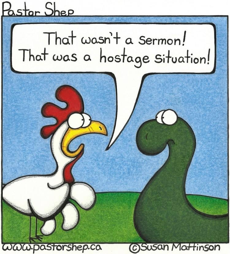 long sermon hostage situation pastor shep christian comic