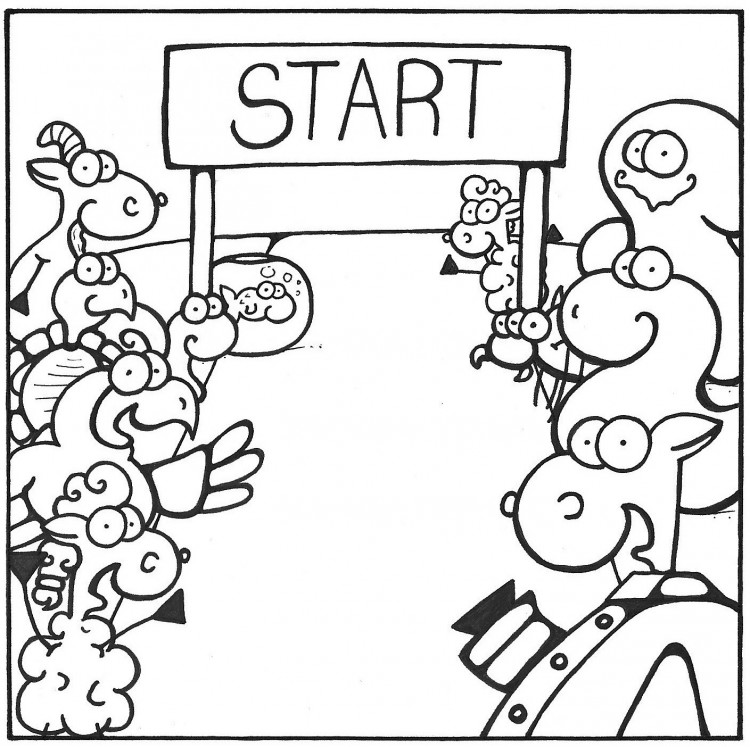 Nativity Marathon Book colouring page coloring page pastor shep christian comic