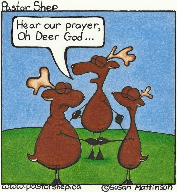 deer God prayer pastor shep christian comic webcomic