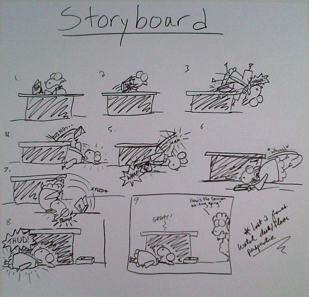 storyboard pastor shep comic rough drawn movement timing susan mattinson