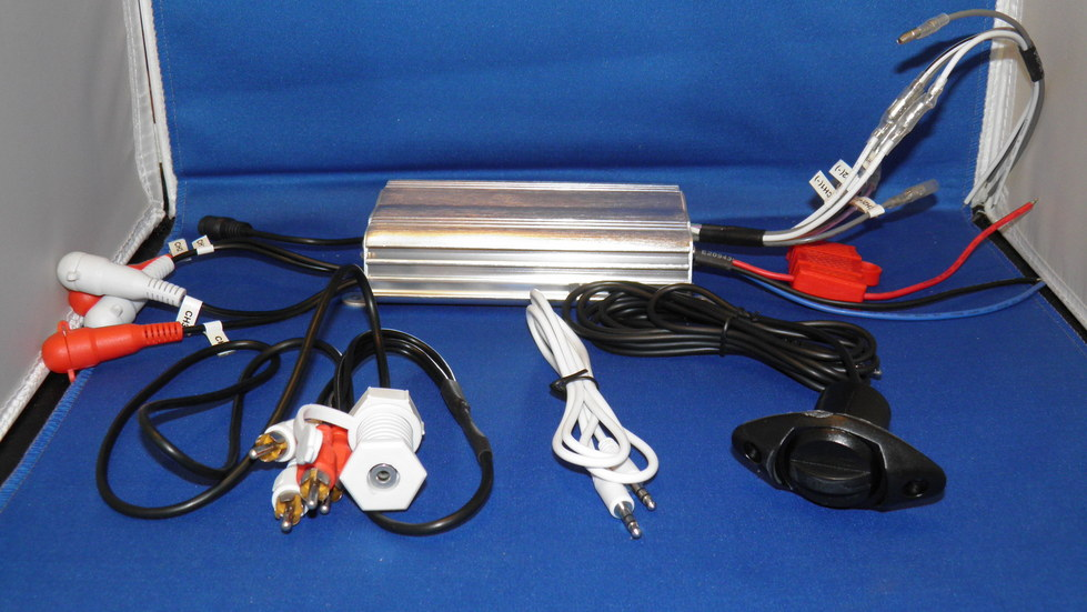 Motorcycle Audio Amplifier 4 Channels