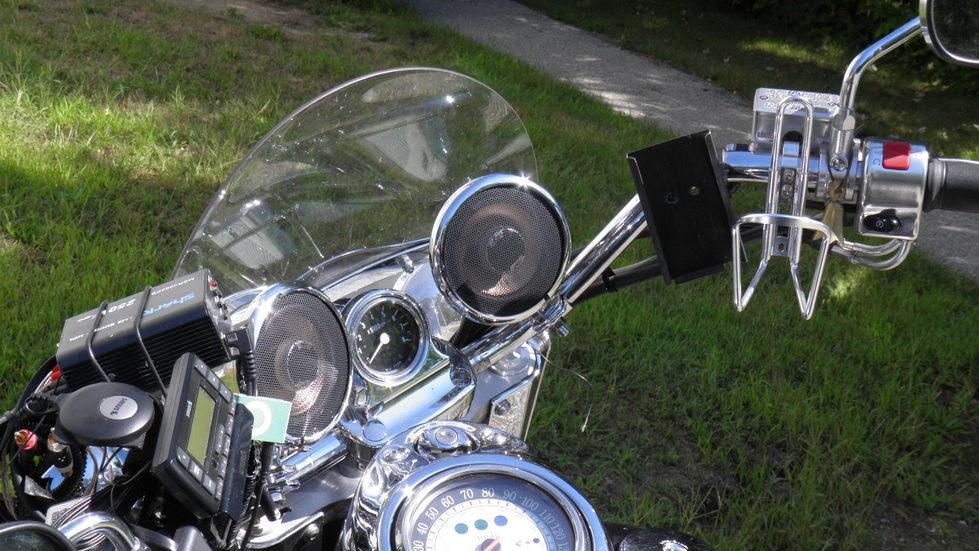 Motorcycle Chrome Bullet Speakers