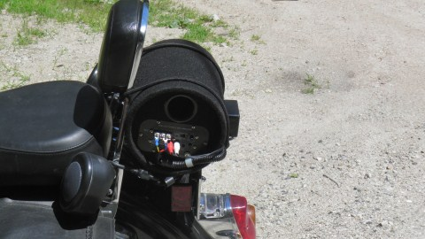 Subwoofer on a bike? - Honda Shadow Forums : Shadow Motorcycle