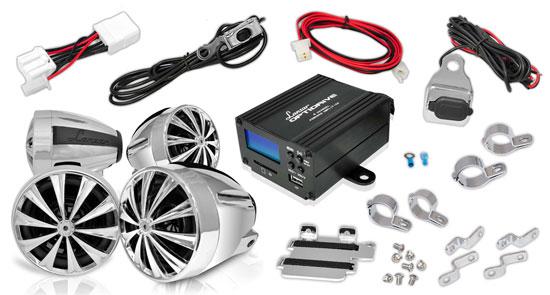 1400 Watt Motorcycle Audio System