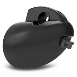 Motorcycle speaker rear view