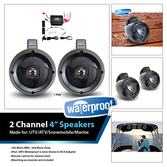 Motorcycle Audio system with 400 Watts