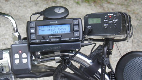 Motorcycle Universal satellite radio holder .