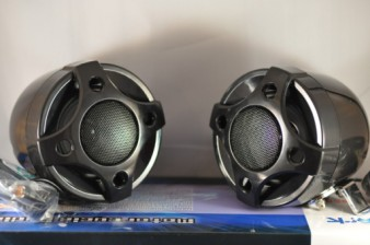 Black Motorcycle Bullet Speakers