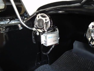 Motorcycle Stereo System mounted in sidecar