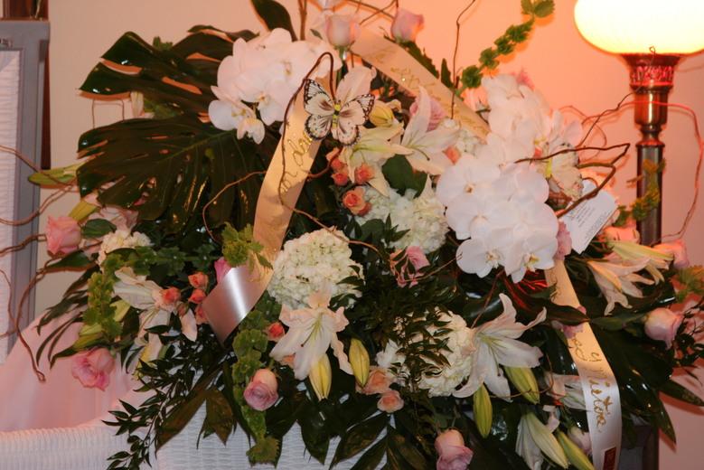 Casket Funeral Spray by belle fleur