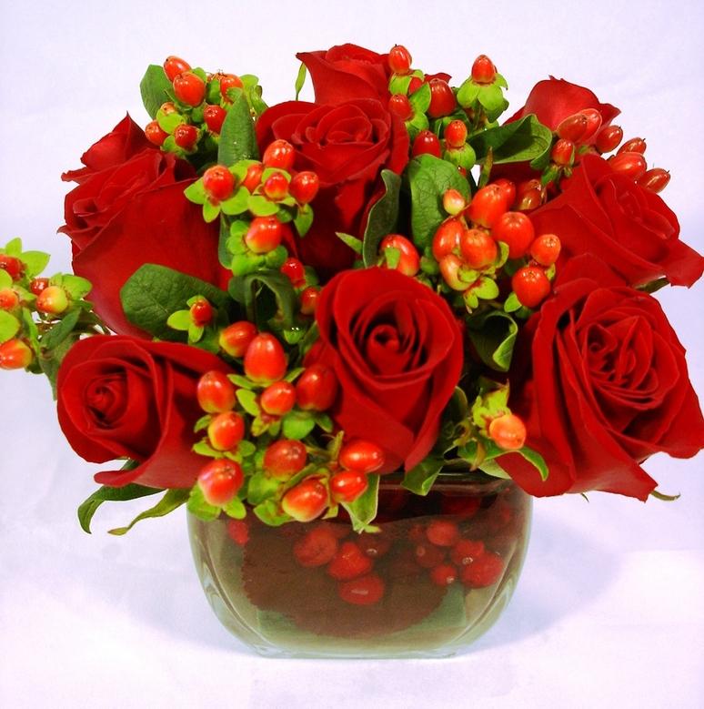 Red Passion Bump Vase by belle fleur