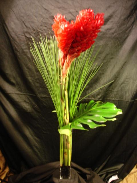 Alpinia Purpurata Vase by belle fleur