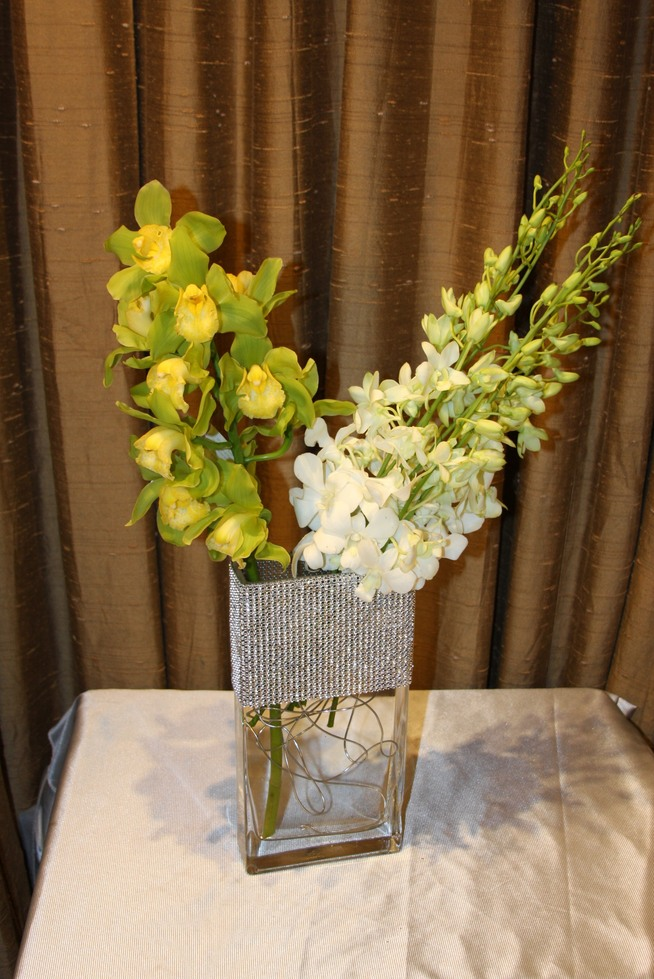 Green Blooming Orchid Cymbidium by belle fleur
