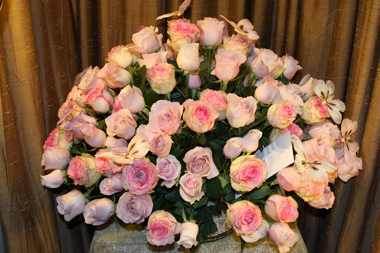 Royal Denary Arrangement - Six Dozen Roses by belle fleur