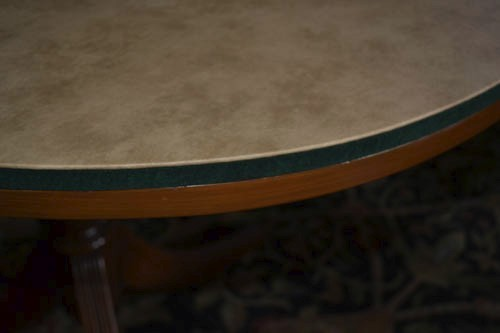 Detail Of The Oval Table Pad