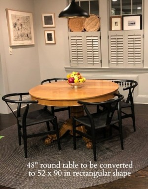 Dining Table Top Extension Pad - Table Top Extender