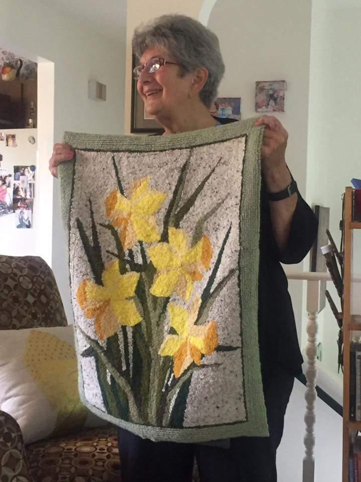 2016 Barbara Miesen Daffodil rug