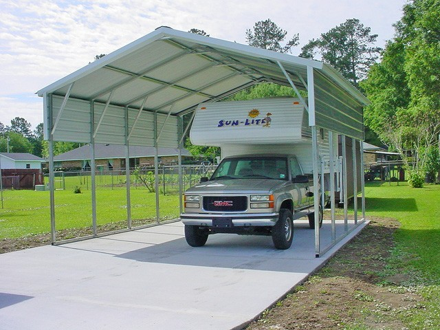 Metal Covers For Motorhomes : Carports michigan mi metal steel carport