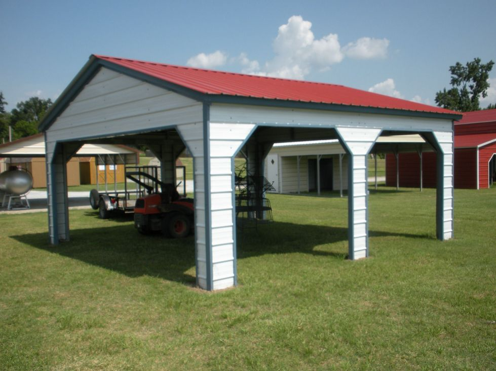 Vertical Roof Side Entry Carport North Carolina NC