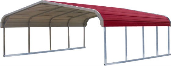 Arkansas Metal Carports Double Regular Style Carport 795