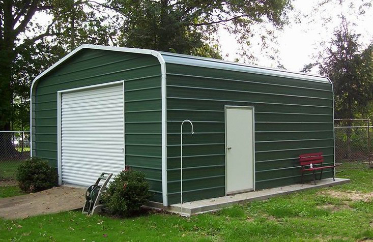 Garage En Carport : Arkansas metal carports metal garages view out garage