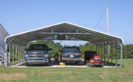 Arkansas Metal Carports Triple Regular Style Carport
