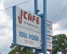 J's Cafe Soul Food Sign Detroit Michigan
