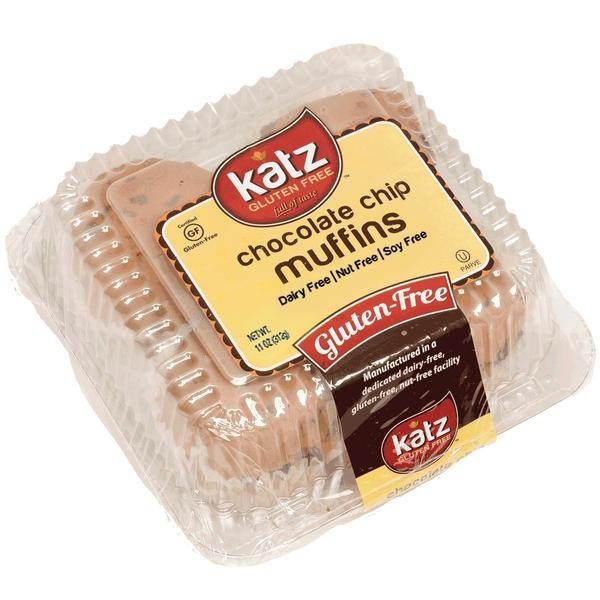 Katz Chocolate Chip Muffins 4pk