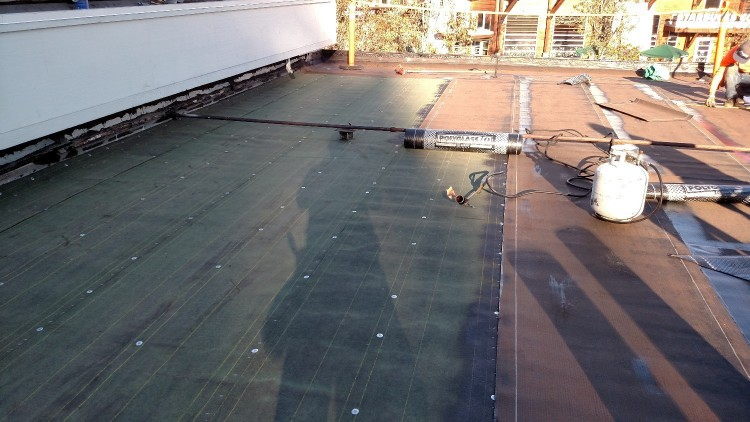 going from torch down roofing to torch down roofing low slopeflat roofs
