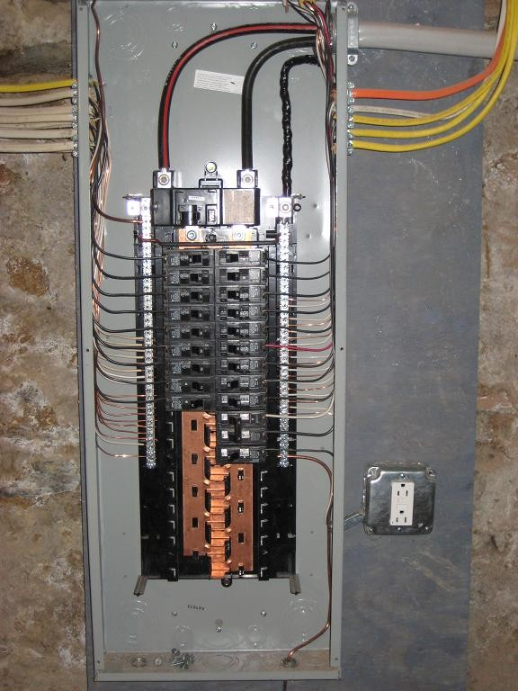 electrician service calls rh jcstewartelectric com wiring a service panel with two ground rods wiring a service entrance panel