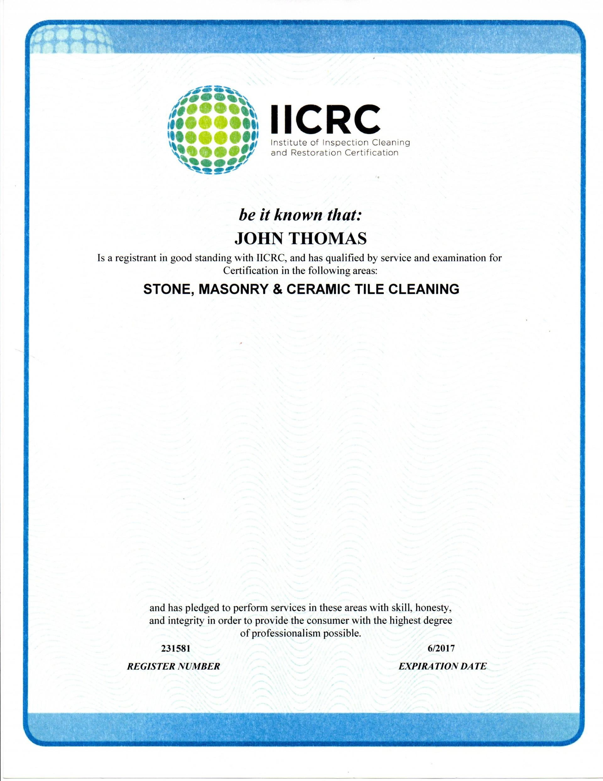 Ceramic Tile Floor Cleaning Certified Technician Floor