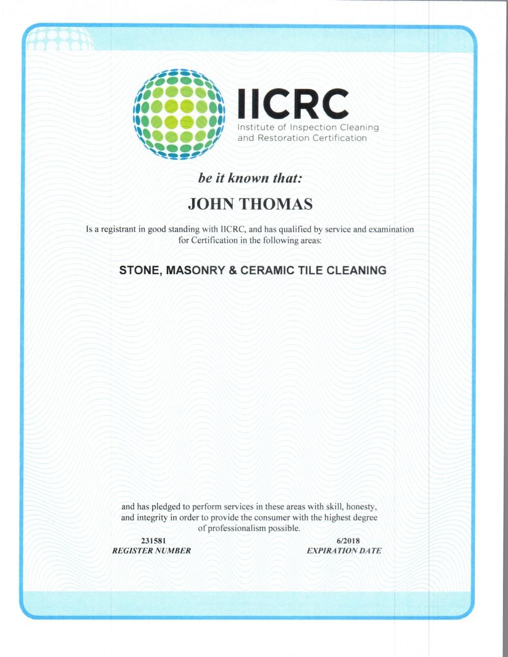 Certified Floor Cleaning Technician