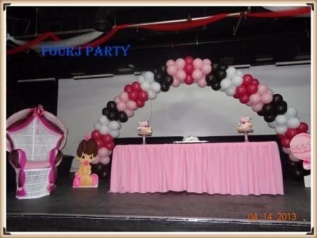 Baby Shower Pink White Black