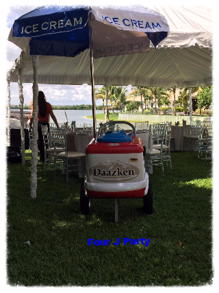 Rent a Tent with Chiavari Chairs and Ice Cream Cart