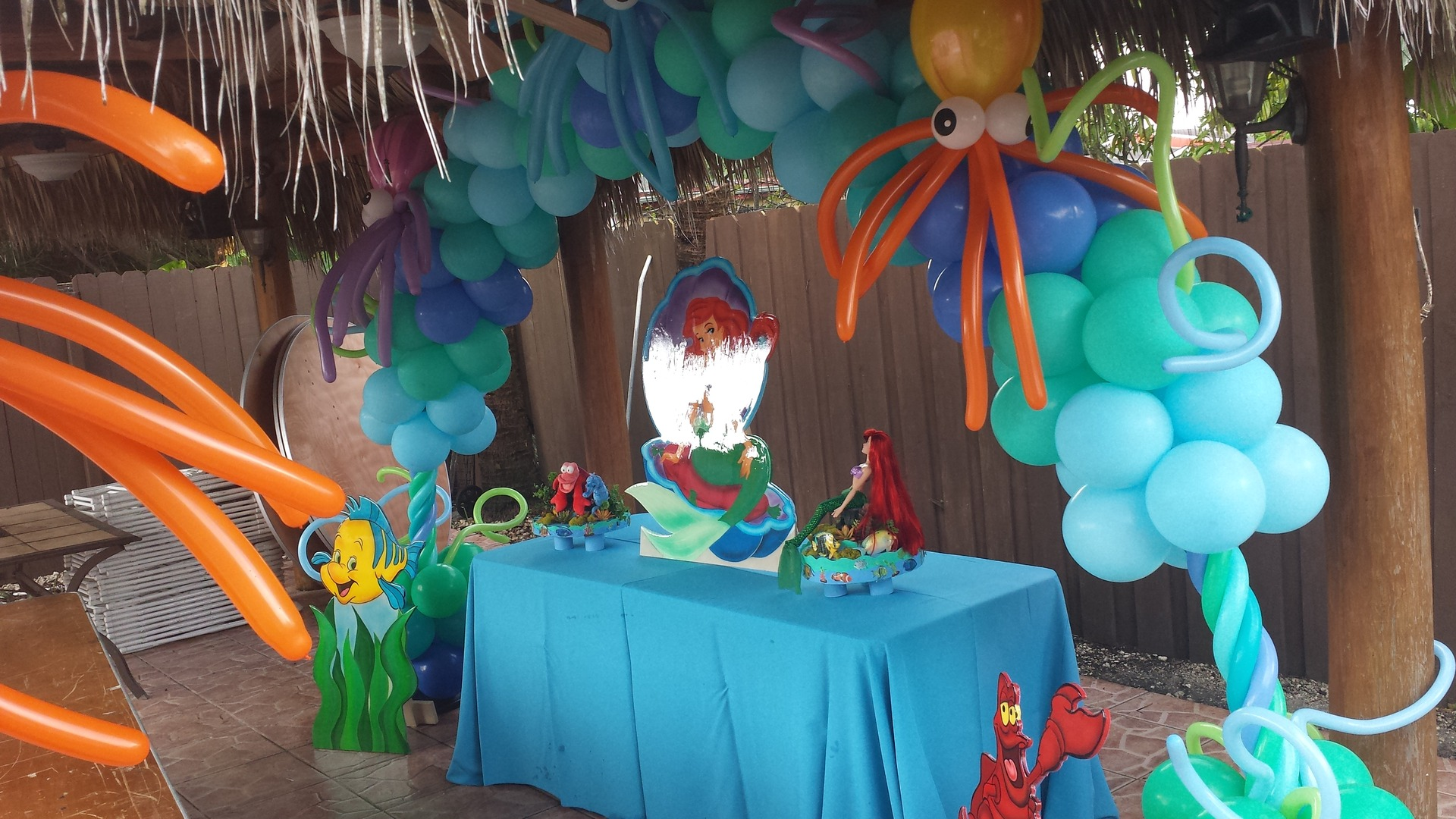 Party rental little mermaid ariel decoration for Ariel decoration party