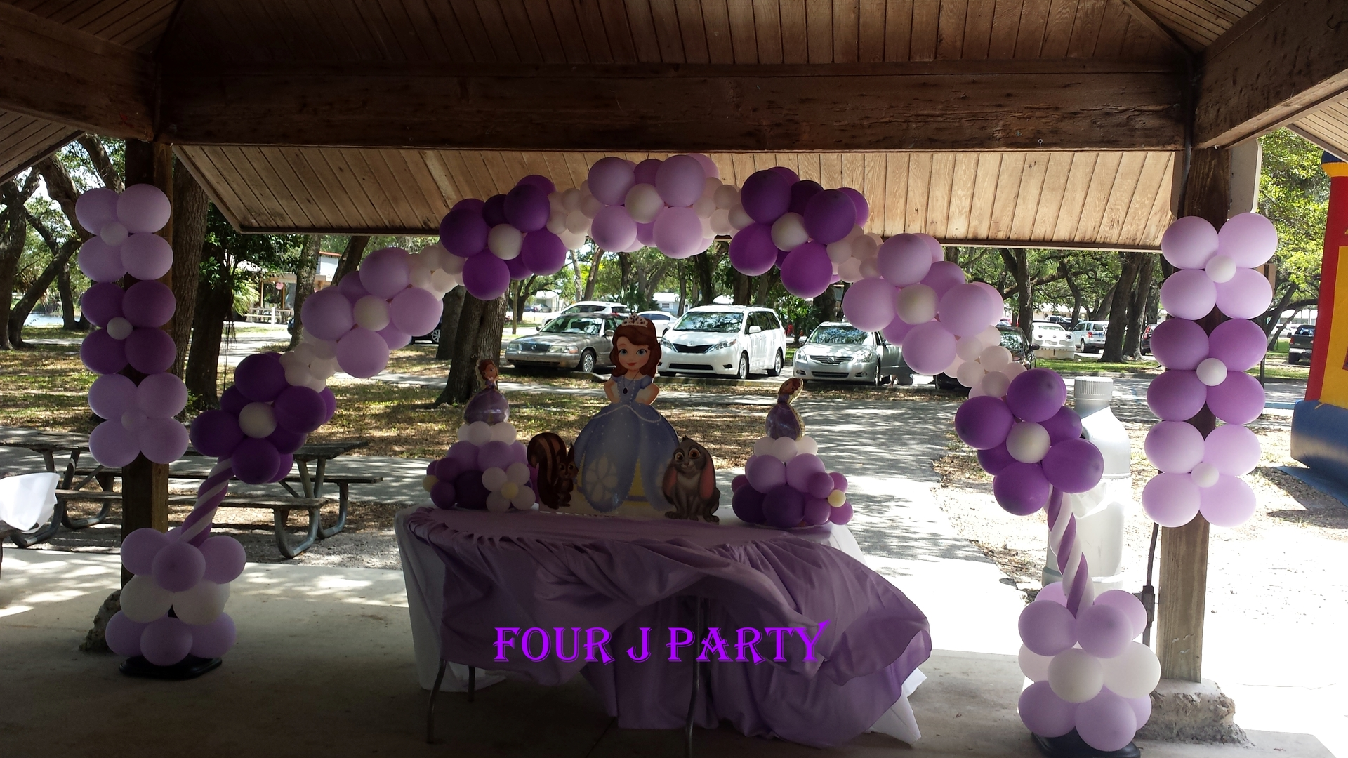 Arch balloons sofia the first decoration