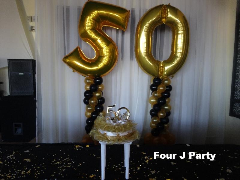 balloons columns 50 Anniversary