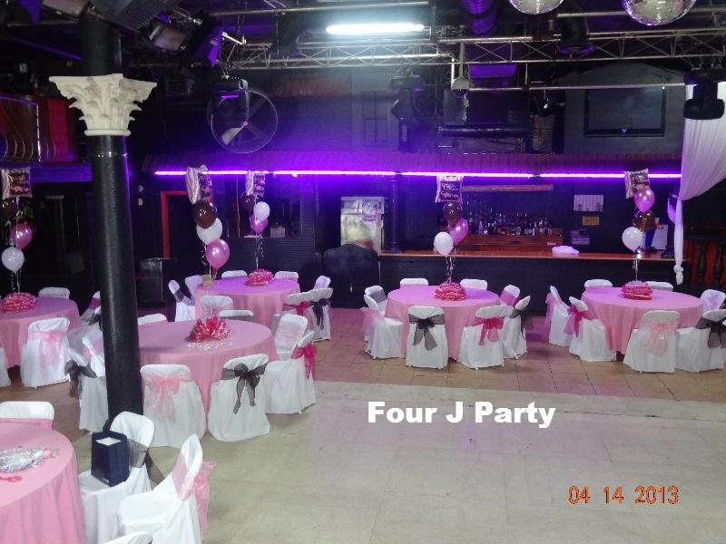 Baby Shower Pink White Black Broward Miami Hialeah Florida