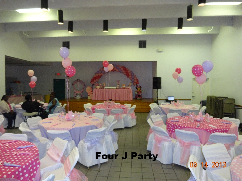 Center pieces baby shower Minnie Mouse